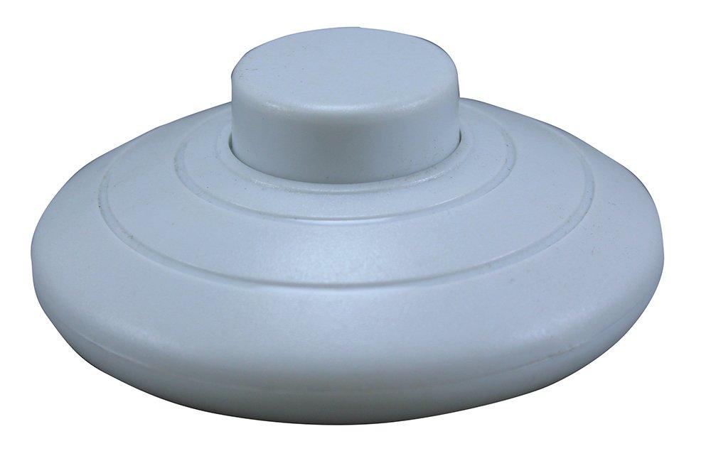 iLightingSupply 55-0339-40 Euro On//Off Push Floor Switch White