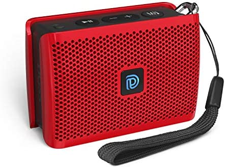 DOSS Genie Portable Bluetooth Speaker with Clean Sound, 33ft Bluetooth Range, Built-in Mic, Ultra-Portable Design, Wireless Speaker Compatible for Home, Outdoors, Travel – Red