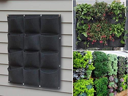 12 Pocket Garden Outdoor Vertical Living Wall Planter by Green-Planter (Image #5)