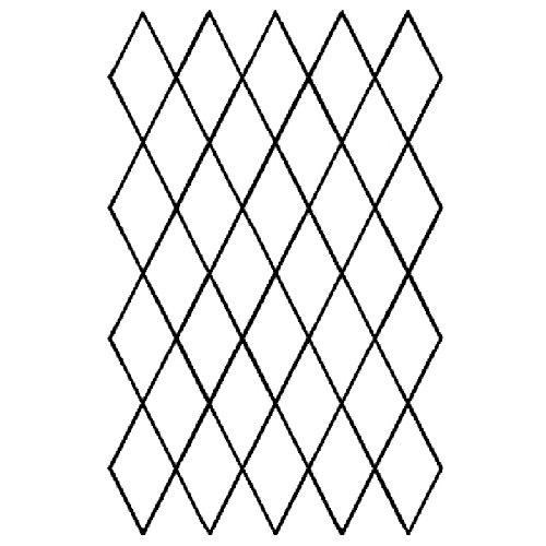 1 x 2 Diamond Grid Quilting Stencil 255