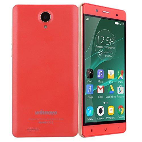 Winnovo K56 Dual 4g Smartphone 5,5 Zoll Android 5.1 Handy simlockfrei ohne Vertrag (Dual SIM, Quad-Core, HD IPS 1280 * 720 Touchscreen, 8GB ROM, 8MP2MP Dual Kameras, Intelligente Geste, GPS, WiFi)