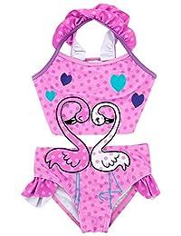 679f2e2a5f540 Baby Girl One Piece Swimsuit Printed Bikini Swimwear Beach Bathing Suit