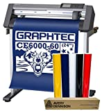 24'' Graphtec CE6000-60 Plus Vinyl Cutter Plotter w/Stand & BONUS 12-Roll Sign Vinyl Pack