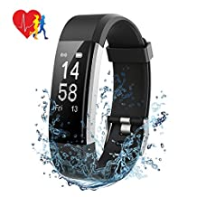Fitness Tracker Mpow IP 67 Waterproof Smart Bracelet, Heart Rate Monitor, Smart band with Sleep Monitor,with 14 Exercise Modes, 4 Watch Faces, Smart Watch GPS Route Tracking, Alarms, Notification, USB Quick Charge,for iPhone Samsung, Android and iOS Smart Phones ( Black )