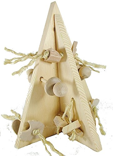 Crazy Christmas Tree Rabbit Toy - Natural by Happy Rabbit Toys