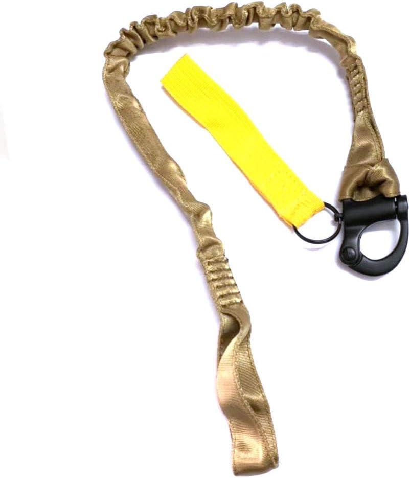 H World EU Tactical Multi-Use Ajustable de liberaci/ón r/ápida Sling Lanyard de Seguridad retr/áctil para Deportes al Aire Libre Senderismo