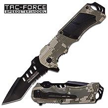 Tac-Force Couteau Tactical Knife Lame Tanto Blade Camouflage / Ouverture Assistée # TF-690TC