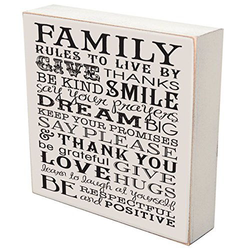 LifeSong Milestones Family Rules to Live by Give Thanks Wedding for Couple, Housewarming Gift Ideas for Mr. and Mrs. Shadow Box 6