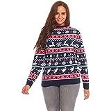 YOU LOOK UGLY TODAY Ladies Ugly Christmas Sweater Mens Santa Xmas Top Reindeer Snow