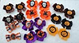 30 Halloween Dog Bows Collection with Ghosts and Pumpkin Face