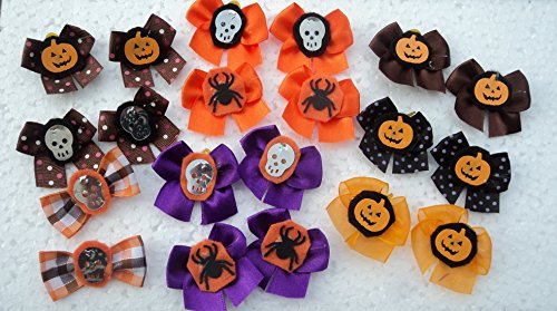 30 Halloween Dog Bows Collection with Ghosts and Pumpkin ...