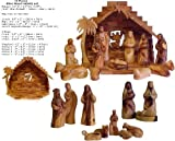Faceless Olive Wood Nativity Set - 13 Pieces