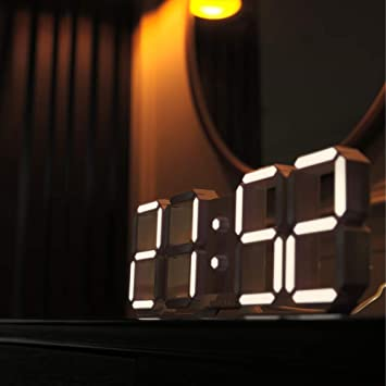 Amazon com: ROIRETNI LED Digital Wall Clock C - Night Light