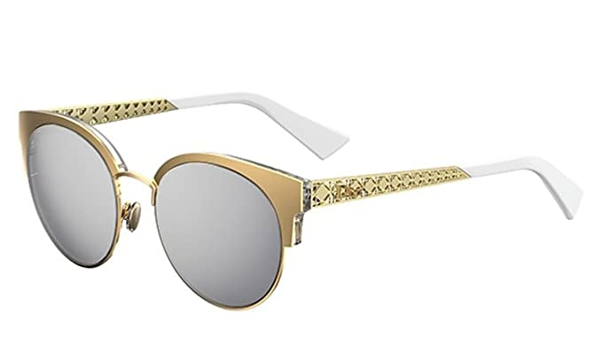 9c7f7c940d Image Unavailable. Image not available for. Color  New Christian Dior  Diorama Mini J5G DC Gold Grey Silver Sunglasses