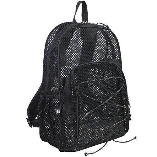Heavy Duty Mesh Backpack - Eastsport Mesh Bungee Backpack, Black, One Size