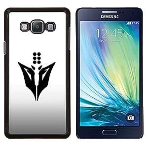 Dots Abstract- Metal de aluminio y de plástico duro Caja del teléfono - Negro - Samsung Galaxy A7 / SM-A700