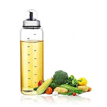 Fyuan 1pcs Dispensador de aceite de oliva y vinagre - 17 oz. Botellas de cristal