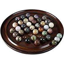 Authentic Models Brown Solitaire Di Venezia Semi-Precious Marbles Set, Set of 2
