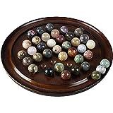 Authentic Models Brown Solitaire Di Venezia Semi-Precious Marbles Set, Set of 2