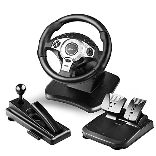 Doyo R900 Degree Rotation Gaming Racing Wheel 7 In 1 Amazon In