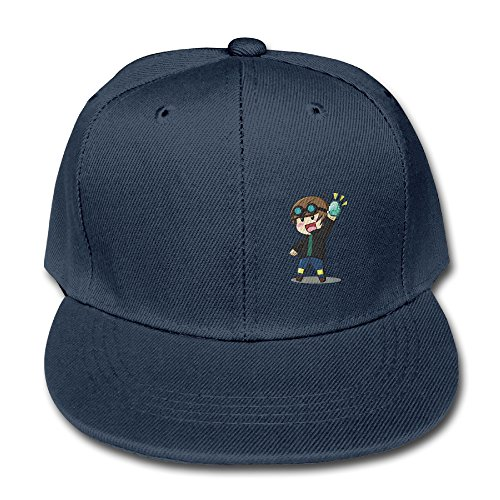 Youtube Diamond Dantdm Cotton Baseball Cap Boys Girls Snapback Hip Hop Flat Hat Navy (Cartoon Pirate Hat)