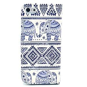 Elefante Patrš®n Alfombra Caso tribal completo de piel del cuerpo con el portatarjetas para el iPhone 5C