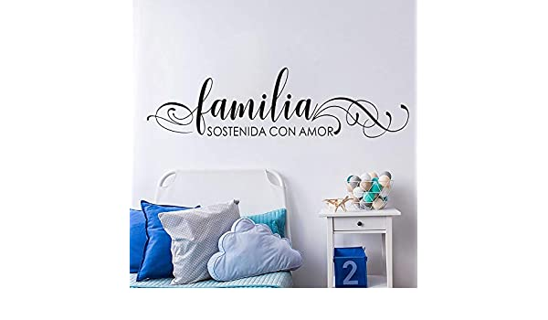 Tatuaje de pared, Cita Familia unida por Love Bed Spanish Print ...