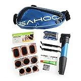 SAHOO Bike Tool Repair Tool Bag Tire Tool Mini Pump Folding Tool 14 in 1 Blue