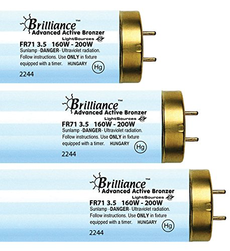 Brilliance Advanced Euro Active Bronzer FR71 VHO 160W-200W Bi Pin Reflector Tanning Lamp (16)
