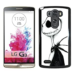 jack from the nightmare before christmas Black High Quality Custom LG G3 Protective Phone Case