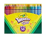 Toys : Crayola Twistables Colored Pencils, Great for Coloring Books, 50 Count, Gift