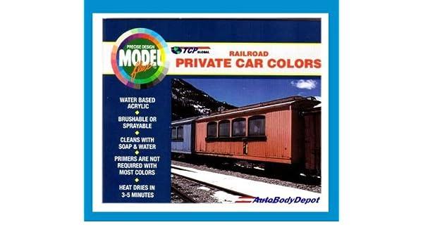 Amazon com: Modelflex Paint Railroad Private Car Colors Set