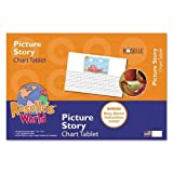 Picture Story Chart Tablet, 24'' x 16'', Ruled Pages, 20 Sheets