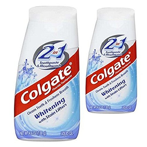 Colgate 2 In 1 Toothpaste & Mouthwash Whitening, 4.6 oz (2-Pack) - Liquid Mouthwash