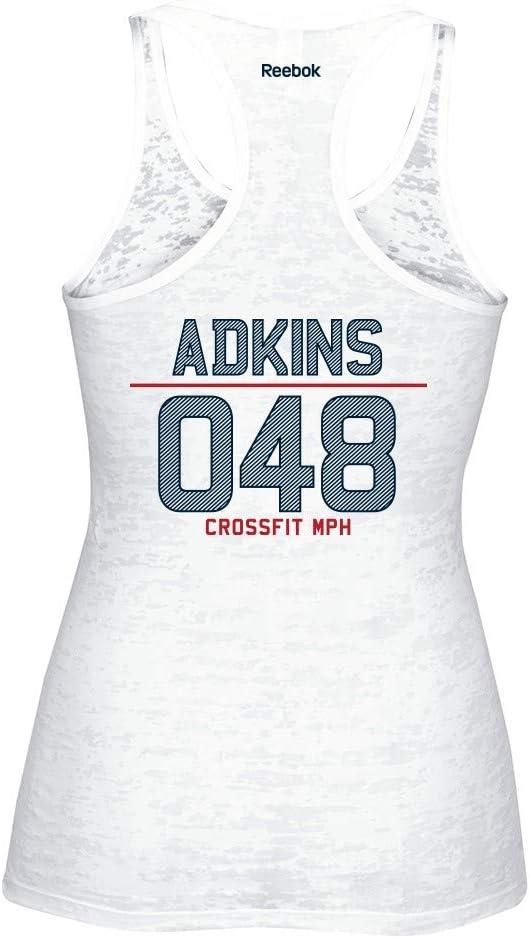 Reebok 2014 CrossFit Christy Adkins 048 Women/'s White Burnout Tank Top