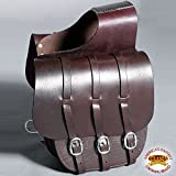HILASON WESTERN TOP GENUINE LEATHER CAVALRY COWBOY TRAIL RIDE HORSE SADDLE BAG