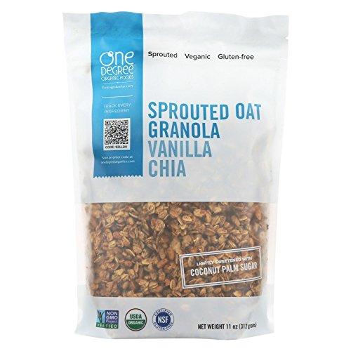 One Degree Sprouted Oat Vanilla Chia Granola, 11 fl oz
