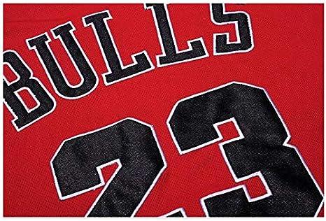 Chicago Bulls Negro Michael Jordan 23# SHPP No Traje Rojo cl/ásico Camiseta de Baloncesto Camiseta de Michael Jordan Unisex 23