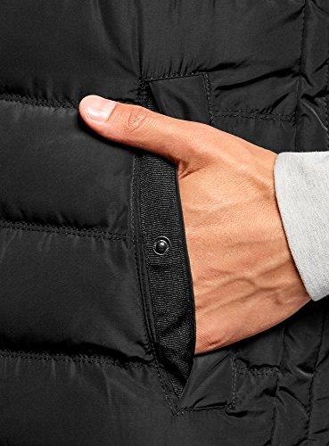 oodji Hombre Acolchado Chaleco Básico Negro Ultra 2900n 88w0qTr