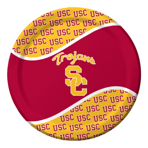 Creative Converting USC Trojans Dinner Paper Plates, (Game Show Themed Costumes)