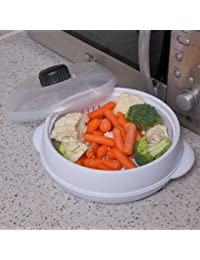 Caraselle Microwave Steamer With Adjustable Vented Lid