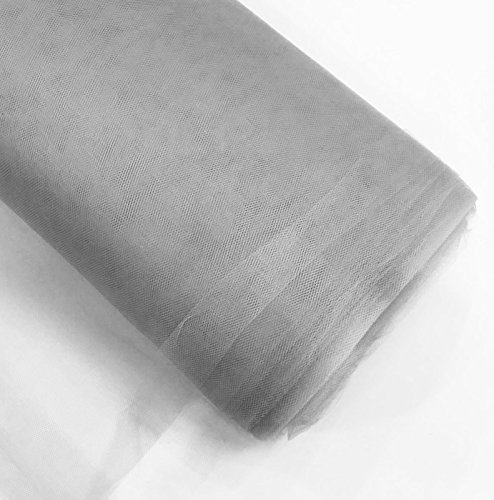 54 by 40 Yards 120 ft Craft and Party Fabric Tulle Bolt for Wedding and Decoration White