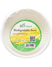 Biogreen Disposable Bowl, Milky White, 10 oz, 20 count, BD-B1020