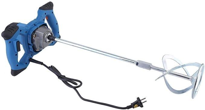220V Azul Homgrace 1600W Mezclador Batidor para Pintura Mortero con Agitador