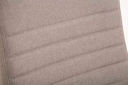 Fauteuil De Bureau Ergonomique Valais XL en Tissu I Chaise De Bureau Réglable en Hauteur Pivotante I Assise Rembourrée…