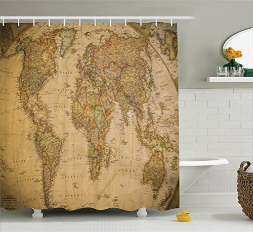 Ambesonne Wanderlust Decor Collection, Anthique Old World