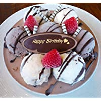 特製・手作りバースデイアイスケーキ チョコver 6号【チョコプレートが選べる★3種類】 (Happy Birthday)