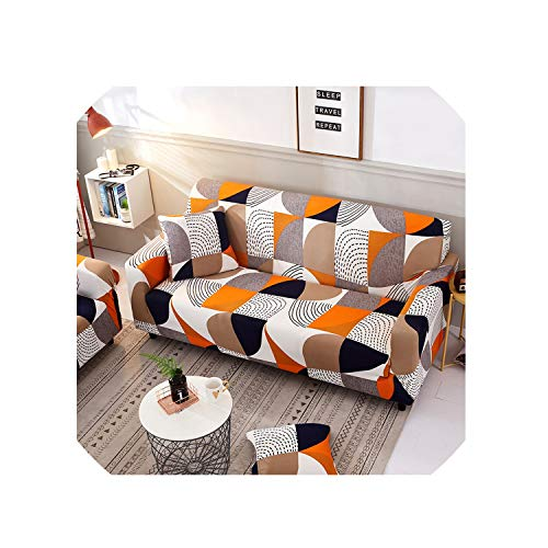 Geometric Elastic Sofa Cover Two and Three Seats Modern Living Room Slipcover Stretch Furniture Case L Shaped Corner Couch Cover,2,Double Seater