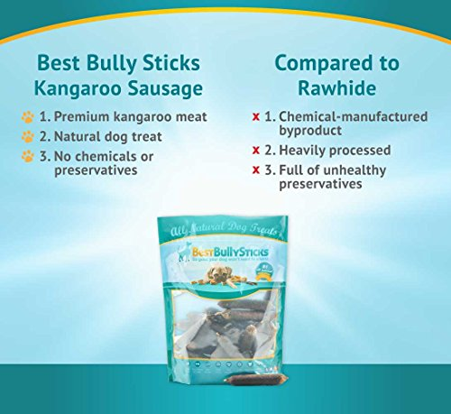 premium kangaroo sausage dog treats by best bully sticks 25 pack. Black Bedroom Furniture Sets. Home Design Ideas