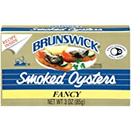 BRUNSWICK Fancy Smoked Oysters, 3 Ounce Can (Pack of 12), Oysters Canned, High Protein, Keto Food and Keto Snacks, Gluten Free, Canned Food